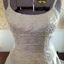 White Mori Lee Womens Wedding Gown Size 8