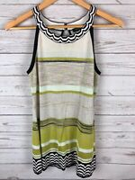 White House Black Market Shimmer Knit Halter Keyhole Button Top Blouse Small S