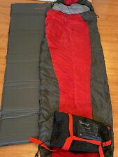 Schlafsack und Iso-Matte von Hi-Tec rot/schwarz