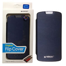 Mercury PU Leather Slim Flip Case Cover Pouch for Google LG Nexus4 E960 (Navy)