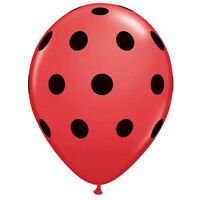 Quantity 12 Red /& White Polka Dot Latex 11 Balloon Party Decorating Supplies