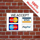 We accept credit cards sign 5566WBK Mastercard Visa Maestro PayPal Payment card