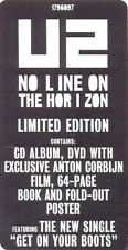 COFFRET BOX SET U2 NO LINE ON THE HORIZON LIMITED EDITION BOX COLLECTOR NEUF