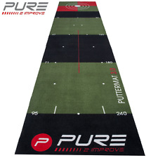 """NEW 2017"" PURE 2 IMPROVE PREMIUM 10 FT / 3 METRE GOLF PRACTICE PUTTING MAT"