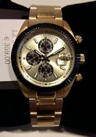 Herrenuhr LORENZ,Chronograph,Etui Stahl Gold 38 mm,Chrono,Armband,100 mt