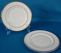 "Royal Doulton Covington 8"" Salad Plate Gold Rim Set of 2"