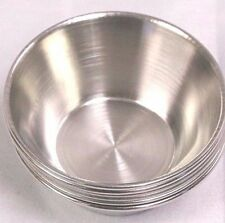 (Lot of 96) 2.5 Oz Stainless Steel Sauce Cup Ramekin Souffle Heavy Duty Dressing
