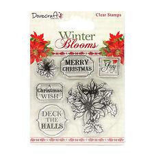 Dovercraft Winter-blüten Weihnachtsstern rein gummi stempel set - Weihnachten