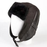 59-60 Men/'s Cap Hat Thin Warm Soft Sheepskin Natural Made in Turkey  XL