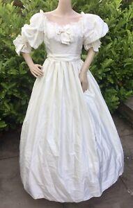 Vintage Wedding Dress Pronuptia 80's Cinderella Diana Duchess Victorian Style XS