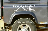 On an Adventure Large Car Window Bumper Graphic Vinyl Decal Sticker