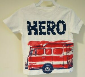 New Baby Gap Hero Stars & Stripes Firetruck Shirt Size 18-24 Month