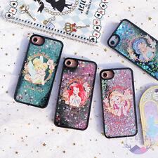 Cute Fairy Princess Ariel Jasmine Quicksand Bling Case For iPhone X 5 6 7 8 Plus