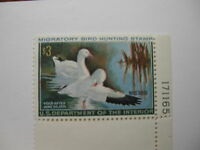 US Department of Interior Scott #RW37 $3 Ross' Geese 1970, MNH Plate Single #...