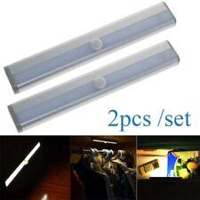 2x 10LED Wireless PIR Motion Sensor Detector Night Light Wall Lamp Battery Power