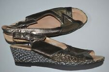 NEW HOTTER Comfort Finesse LEATHER gold SANDAL SHOE size uk 5.5 eur 38.5   party