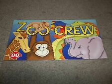 RARE DAIRY QUEEN PROMOTIONAL POSTER ZOO CREW KIDS MEAL CARDBOARD 2001