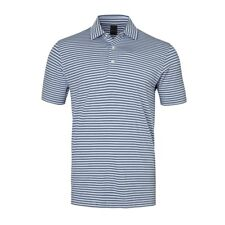 New Dunning Golf Striped Polo Shirt Dusk Fragment Light Purple Gray Large L NWT