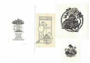 5 Ex Libris Frogs  Gastmans