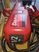 Dayton 1/2 Ton 16FPM 115V Single Phase 11' Lift 1/2Hp Electric Shop Chain Hoist