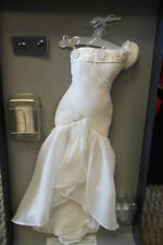 """Franklin Mint Princess Diana White Chiffon Dress Ensemble 16"""" NEW"""