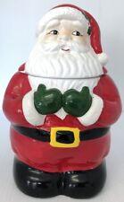 Vintage Santa Clause Cookie Jar Handpainted