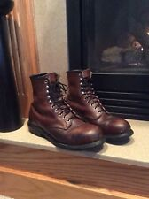 Red Wing Steel Toe Work Boots Made In USA 2233 Brown Size 10.5D