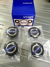 VOLVO BLACK MAT WHEEL CENTRE HUB CAP KIT FOR S40 V50 C70 S60 V70 S80 XC90
