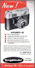 Voigtlander Vitoret Camera & Perkeo Projectors 1963 UK Market Leaflet Brochure
