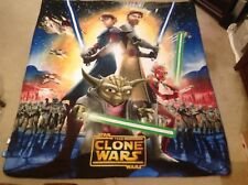 Star Wars The Clone Wars Full Size Comforter-Fitted&Flat Sheets and Pillow Cases