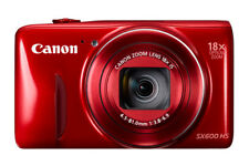 Brand New Canon PowerShot SX600 HS 16MP Digital Camera, Wi-Fi Enabled, Red