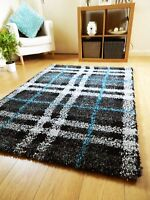 SMALL X LARGE SIZE THICK COLOURFUL SOFT SHAGGY RUG NON SHED 5cm PILE MODERN RUGS