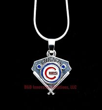 Chicago Cubs MLB Sterling Silver Chain Vintage Pendant Baseball Plate