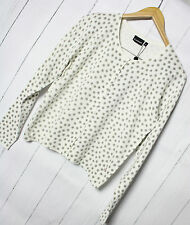Soulmate Pullover donna scialle tg. M Cardigan a pois bianchi NUOVO