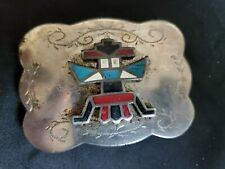 VINTAGE INLAID SOUTH WEST INDIAN STYLE BELT BUCKLE-
