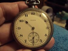 Pocket Watch 7J Running Antique 1919 Elgin 16S Nickel