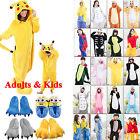 Kids Adults Animal Kigurumi Pajamas Cosplay Onesie Sleepwear Costumes Unisex