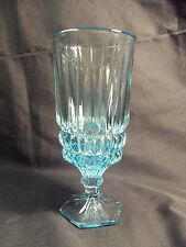 *NEW* Set of 8 vintage FOSTORIA glass crystal HERITAGE ice teas BLUE