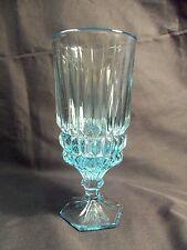 *NEW* Set of 8 vintage FOSTORIA glass crystal HERITAGE ice teas BLUE