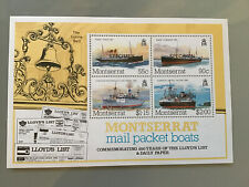 MONTSERRAT MS MAIL PACKET BOATS CELEBRATING 200 YEARS LLOYDS LIST O/P SPECIMEN