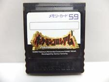 NINTENDO GAME CUBE MEMORY CARD 59 POKEMON COLOSSEUM VER. CLEAR BLACK
