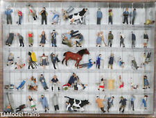 Preiser HO #13001 Farm Set w/ Animals and Accessories (60 Painted Figures)