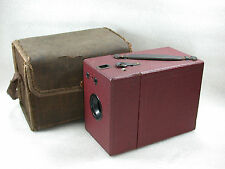 Red Box Camera, 120 Roll Film Camera, Un-named and un-branded + Case.