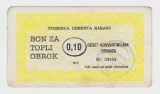 Local note bons coupon 10 germany pfennig KAKANJ BOSNIA EX YUGOSLAVIA !