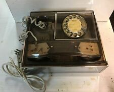 66806 Telefono fisso a disco vintage - Telcer Clear Perspex Rotary - anni '70