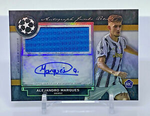 2020-21 Topps Museum UEFA Alejandro Marques RC ROOKIE PATCH AUTO #/75 JUVENTUS
