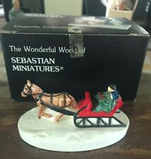 "Vintage 1986 Sebastian Miniatures ""Holiday Sleigh Ride� 3817 -in Box"
