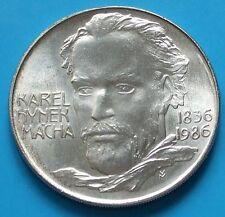 1986 ,Silver 100 Korun, KAREL HYNEK MACHA  ,CSSR, UNC