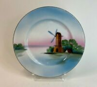Antique Hand Painted Made in Japan Windmill Plate Unique Colors 5 Available