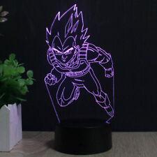 LED 7 Colour 3D Vegeta Anime Acrylic Night Light Touch Table Desk Lamp KIDS Gift